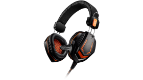 Gaming headset 3.5mm jack with microphone and volume control, cable 2M, Black