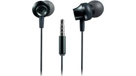 Stereo earphones with microphone, metallic shell, 1.2M, dark gray