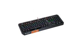 CANYON Wired multimedia gaming keyboard with lighting effect, 108pcs rainbow LED, Numbers 104keys, EN double injection layout, cable length 1.8M, 450.5*163.7*42mm, 0.90kg, color black