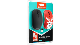 Canyon wireless OpticalMouse with 4 buttons, DPI 800/1200/1600, 1 additional cover(Deer), black