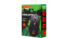 Optical Gaming Mouse with 6 programmable buttons, Pixart optical sensor, 4 levels of DPI and up to 3200, 3 million times key life, 1.65m PVC USB cable,rubber coating surface and colorful RGB lights, size:125*75*38mm, 140g