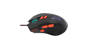 Wired Gaming Mouse with 8 programmable buttons, sunplus optical 6651 sensor, 4 levels of DPI default and can be up to 6400, 10 million times key life, 1.65m Braided USB cable