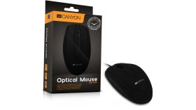 CANYON Mouse CNE-CMS1 (Wired, Optical 800 dpi, 3 btn, USB), Black