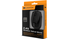 CANYON Mouse CNS-CMSW5 (Wireless, Optical 800/1280 dpi, 4 btn, USB, power saving technology), Black
