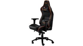 Gaming chair, PU leather, Cold molded foam, Metal Frame , Frog mechanism, 90-165 dgree, 4D armrest, TiltLock, Class 4 gas lift, metal 5 Stars Base, 60mm PU caster,black+Orange.