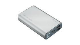 Power bank 10000mAh, quick charge QC3.0, bulit in Lithium Polymer Battery, Silver. Micro Input: 5V/2A, 9V/2A, PD Input/Output: 5V/2A, 9V/2A, Output1: 5V/2A, Output2: 18W (QC3.0).