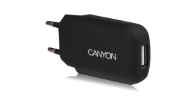 Single USB Home Carger 1A (Color: Black)