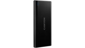 CANYON PB-106 Power bank 10000mAh Li-poly battery, Input 5V/2A, Output 5V/2.1A(Max), USB cable length 0.3m, 140*68*16mm, 0.24Kg, Black