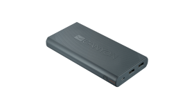 CANYON Power bank 16000mAh built-in Lithium-ion battery, max output 5V2.4A, input 5V2A. Dark Gray