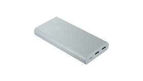 CANYON Power bank 16000mAh built-in Lithium-ion battery, max output 5V2.4A, input 5V2A. White