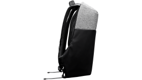 """Backpack for 15.6"""" laptop, black and dark gray (Material: 900D Glued Polyester and 600D Polyester)"""
