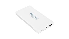 Power bank 10000mAh (Color: White), bulit in Lithium Polymer Battery