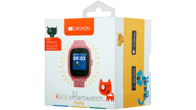 Kids smartwatch, 1.22 inch colorful screen,  SOS button, single SIM,32+32MB, GSM(850/900/1800/1900MHz), IP68 waterproof, Wifi, GPS, 420mAh, compatibility with iOS and android, Red, host: 46*40*15MM, strap: 180*20mm, 46g
