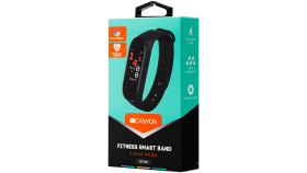 CANYON SB-01 Smart band, colorful 0.96inch LCD, IP67, heart rate monitor, 90mAh, multisport mode, compatibility with iOS and android, Black, host: 47*18*11mm, strap: 245*16mm, 19.8g