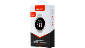 Smart watch, 1.3inches IPS full touch screen, Zinic+plastic body,IP68 waterproof, multi-sport mode with swimming mode, compatibility with iOS and android,Silver body with silver metal  belt, Host: 44.5x11.6mm, Strap: 240x20mm, 53g