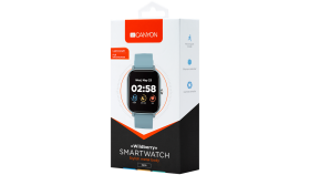 Smart watch, 1.3inches TFT full touch screen, Zinc plastic body, IP67 waterproof, multi-sport mode, compatibility with iOS and android, blue body with blue silicon belt, Host: 43*37*9mm, Strap: 230x20mm, 45g