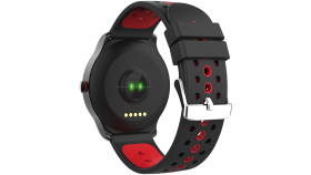 Smart watch, 1.3inches IPS full touch screen, Alloy+plastic body,IP68 waterproof, multi-sport mode with swimming mode, compatibility with iOS and android,Black-Red with extra black belt, Host: 262x43.6x12.5mm, Strap: 240x22mm, 60g