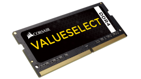 CORSAIR 16GB DDR4 2400MHz 1x260SoDimm unbuffered 16-16-16-39 Black PCB 1,2V
