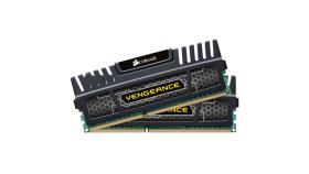 Памет Corsair DDR3, 1600MHz 16G (2 x 8GB) 240 Dimm, Unbuffered, 10-10-10-27, Vengeance Black Heat Heatspreader - Core i7, Core i5 and Core 2, 1.5V