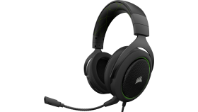 Геймърски слушалки Corsair HS50 Gaming Headset (50mm неодимови говорители, контрол на звука, микрофон) Black & Green
