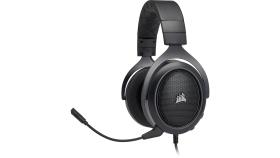 Геймърски слушалки Corsair HS60 Surround Gaming Headset (50mm неодимови говорители, USB адаптер за 7.1 съраунд, контрол на звука, микрофон) Carbon