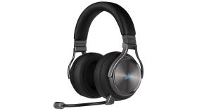 Геймърски слушалки Corsair Virtuoso RGB Wireless SE with Slipstream High-Fidelity Gaming Headset (50mm неодимови говорители, 7.1 съраунд, 20 часа с едно зареждане, контрол на звука, микрофон, USB) Gunmetal