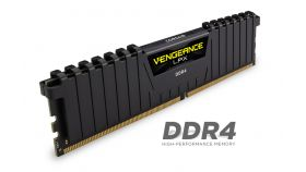 Памет Corsair DDR4, 3000MHz 16GB (2 x 8GB) 288 DIMM, Unbuffered, 15-17-17-35, Vengeance LPX Black Heat spreader, 1.35V, XMP 2.0, Supports new series Intel® Core™ i5/i7