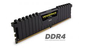 Памет Corsair DDR4, 3200MHz 16GB (2 x 8GB) 288 DIMM, Unbuffered, 16-18-18-36, Vengeance LPX Black Heat spreader, 1.35V, XMP 2.0, Supports AMD Ryzen and Intel new Gen
