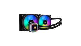 Водно охлаждане за процесор Corsair Hydro Series H100i RGB PLATINUM, Compatible with Intel (115x, 2011/2066) and AMD (AM3/AM2, AM4, TR4), 240mm Dual Radiator, RGB magnetic levitation, fans, Multi-Zone RGB LEDs, Extreme Liquid CPU Cooler
