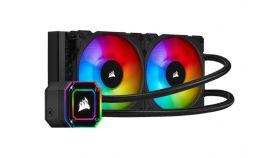 CORSAIR iCUE H100i ELITE CAPELLIX 240mm Radiator Dual 120mm ML RGB Fans Software Control Liquid CPU Cooler