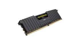 Corsair DDR4, 2400MHz 8GB 1 x 288 DIMM, Unbuffered, 14-16-16-31, Vengeance LPX Black Heat spreader, 1.20V, XMP 2.0, Supports 6th Intel Core i5/i7