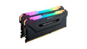 Corsair DDR4, 3200MHz 16GB 2x 288 DIMM, Unbuffered, 16-18-18-36, Vengeance RGB PRO black Heat spreader,1.35V, XMP 2.0, for AMD Ryzen