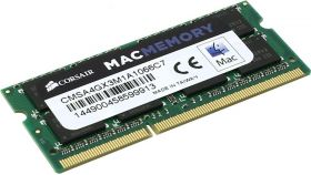 Памет Corsair DDR3, 1066MHz 4GB (1 x 4GB) 204 SODIMM, Apple Qualified, Unbuffered