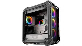 "Chassis COUGAR PANZER EVO RGB Full-Tower, Mini ITX/MicroATX/ATX/ CEB/L-ATX/E-ATX (E-ATX up to 12""x11"" ), Max. Graphics Card Length-390mm/15.35 (Inch),Max. CPU Cooler Height-170mm/ 6.69 (Inch), CM, Water Cooling Support,USB3.0x2/USB2.0x2 Micx1/Audiox1"