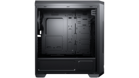 Chassis COUGAR MX331 Mesh, Mid Tower, MiniITX/MicroATX/ATX, 204x481x443(mm), USB 3.0 x 2, USB 2.0 x 2, Mic x 1 / Audio x 1, Reset Button, Mesh Front Panel, 120mm x 1( Black fan x 1 pre-installed), Transparent Left Panel, Maximum Number of Fans: 5 max