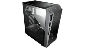 """Chassis COUGAR Turret MESH,Mid-Tower,Mini ITX / Micro ATX / ATX,USB3.0 x 2 / USB2.0 x 1, Mic x 1, Audio x 1,206 x 461 x 420 (mm),Tempered Glass,PSU-Standard ATX PS2,2+2 (converted from 3.5"""" drive bays) + 2br. 140mm fans"""
