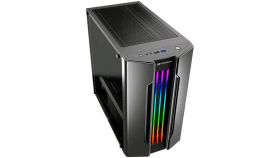 "COUGAR Gemini M - Iron-gray, Mini ITX / Micro ATX Case, USB3.0x1, USB2.0 x 1, Mic x 1 / Audio x 1, RGB Control Button, 2X3.5"" Drive Bay, 4 Expansion Slots, Standard ATX PS2, relux Lighting with Addressable RGB LEDs and Dynamic Lighting Effects"