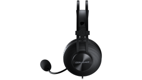 COUGAR Immersa Essential, 40mm Driver: High-quality Stereo Sound, 9.7mm Noise Cancellation Cardioid Microphone, 260g ultra Lightweight Suspended Leatherlike Headband Design, Volume Control & Microphone Switch Control