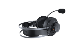 COUGAR VM410 Iron, 53mm Graphene Diaphragm Drivers, 9.7mm Noise Cancellation Microphone, Volume Control and Microphone Switch Control, 259g Ultra Lightweight Suspended Leatherlike Headband Design