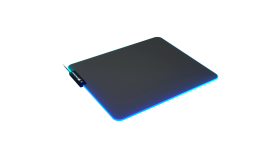 COUGAR Neon, RGB Gaming Mouse Pad, HD Texture Design, Stitched Lighting Border + 4mm Thickness, Wave-Shaped Anti-Slip Rubber Base, Cloth / Nature Rubber, 350 x 300 x 4 mm