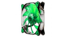 COUGAR GREEN LED Fan CF-D14HB-G,140x140x25mm,Speed 1000R.P.M, Air flow 73.18/124.4, Air pressure 1.4, 18dB(A),3pin,Cable Length 450mm,HB (Hydraulic-Bearing) type