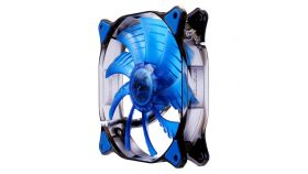COUGAR BLUE LED Fan CF-D14HB-B,140x140x25mm,Speed 1000R.P.M, Air flow 73.18/124.4, Air pressure 1.4, 18dB(A),3pin,Cable Length 450mm,HB (Hydraulic-Bearing) type