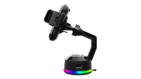 COUGAR Bunker M Mobile Charging Stand RGB,Wireless Charging,Adjustable Stand,14 RGB lighting effects,2 USB Hub,	120 x 70 x 145 (mm)