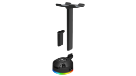 COUGAR Bunker S RGB Headset Stand, Two modes - Standard & Case mode, RGB with 14 lighting effects.80 x 70 x 255/90 (mm)