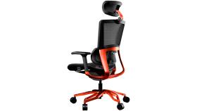 COUGAR Argo Orange, Premium Aluminum Frame, 5-star Aluminum Alloy base, Breathable PVC Leather, Trigger shift wire control system, Dynamic lumbar Support Design, Flexibly reclining backrest, Adjustable headrest, Sliding seat, 3D Adjustable Armrest