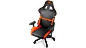 COUGAR Armor Gaming Chair, Piston Lift Height Adjustment,180? Reclining,Adjustable Tilting Resistance,3D Adjustable Arm Rest,Full Steel Frame,Ultimate Quality: Class 4 Gas Lift Cylinder