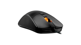 COUGAR SURPASSION Gaming Mouse, PixArt PMW3330 Optical gaming sensor, 50-7200 DPI, Polling Rate 125/250/500/1000Hz, 50M OMRON gaming switch, 2 ZONE backlight, Golden-plated USB plug, LOD, Cable:1.8m