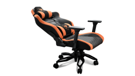 COUGAR Armor Titan PRO, Gaming chair, Suede-Like Texture, Body-embracing High Back Design, Breathable Premium PVC Leather, Memory Head Pillow & Lumbar Pillow, 170? Reclining, 4D Adjustable Arm Rest, Class 4 Gas Lift Cylinder