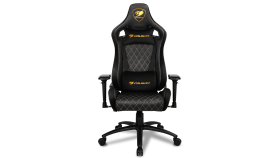 COUGAR Armor S ROYAL Gaming Chair, Full Steel Frame, 4D adjustable arm rest, Gas lift height adjustable, 180? seat back adjustable, Head and Lumbar Pillow, High density mold shaping foam, Premium PVC leather,Weight Capacity-120kg,Product Weight-21kg