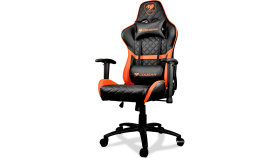 COUGAR Armor TITAN Gaming Chair,Adjustable Design,Support for 160 Kg,Piston Lift Height Adjustment,170? Reclining,4D Adjustable Arm Rest,Full Steel Frame,Class 4 Gas Lift Cylinder,Aluminum Alloy 5-Star Base,Breathable Premium PVC leather